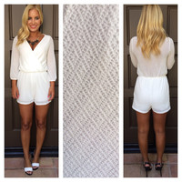 Capri Diamond Light Knit Romper - WHITE