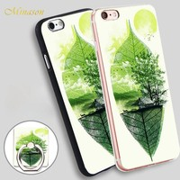 Minason live in nature Mobile Phone Shell Soft TPU Silicone Case Cover for iPhone X 8 5 SE 5S 6 6S 7 Plus