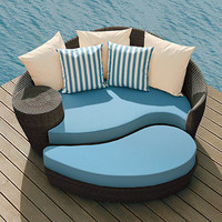 Dune Daybed and Ottoman with Cushions and Pillows - Frontgate