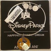 Disney Alex and Ani Parks Belle Find True Beauty Within Bracelet Silver New W Tags