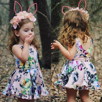 Kids Baby Girls Floral Romper Dress Bodysuit Jumpsuit Outfits Clothes USA wea