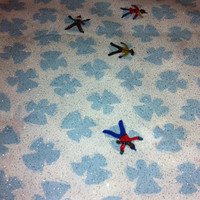 Snow Angles Cotton Fabric Sewing supplies
