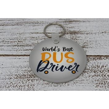 Monogrammed Key Chain | Personalized Key Chain | Bus Driver