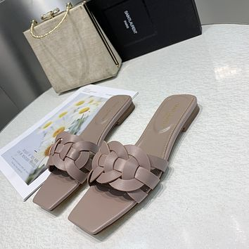 ysl women casual shoes boots fashionable casual leather women heels sandal shoes 133