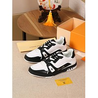 lv louis vuitton womans mens 2020 new fashion casual shoes sneaker sport running shoes 163
