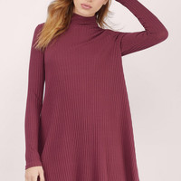 Elena Mock Neck Shift Dress