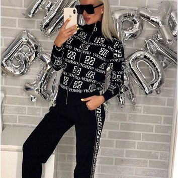 Givenchy Women High Collar Sweater Pants Set Two-Piece
