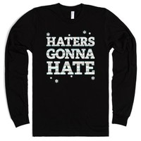 Haters Gonna Hate Winter Print-Unisex Black T-Shirt