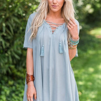 Delany Lace Up Dress