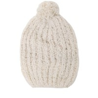 Kendall & Kylie Slouchy Knit Beanie - Womens Hat - White - One