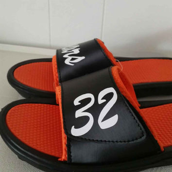 Customize your own pair of Slide Sandals- sports slides- sport sandals- sports- slides- custom- monogram- sports team-