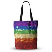 "Kristi Jackson ""Rainbow Bokeh"" Multicolor Digital Everything Tote Bag"