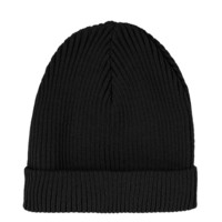Black Turnup Beanie - Topshop USA