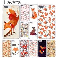 Lavaza New space foxes sly fox art island Illustration Hard Phone Case for Apple iPhone 8 7 6 6S Plus X 10 5 5S SE 5C 4 4S
