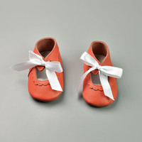 Leather Permeable Anti-skid Baby Infant Shoes [4919352260]