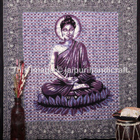 Meditation Buddha Hippie Wall Hanging, Indian Tapestry wall Decor Bed Sofa Throw, Buddhism Hippie Wall Hanging, Boho Tapestry, Beach Sheet