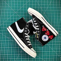 Comme Des Garcons X Converse Chuck Taylor All Star Cdg 1970s Canvas Shoes - Best Online Sale