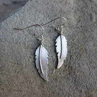 Dove Feather Earring