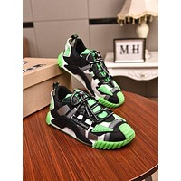 DOLCE&GABBANA Men Fashion Boots fashionable Casual leather Breathable Sneakers Running Shoes-17