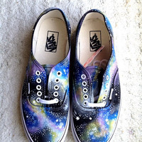 White Sole Galaxy Vans (authentic skate)
