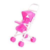 2016 Free Shipping New Pink Assembly Baby Stroller Trolley Nursery Furniture Toys for Doll