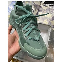 Dior New thick-soled casual all-match increased running sneakers Shoes Green