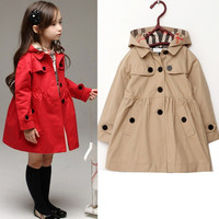 Red Kahii baby witer log sleeve jacet cotto clothes toddler warm coat ids outwear