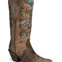 Corral Inlay Laser Tooled Cowgirl Boot - Pointed Toe - Sheplers