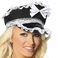 Sexy Lace Ruffle French Hat Halloween Accessory