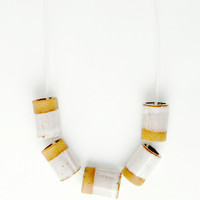 Ceramic Dipped Necklace - Natural Stone
