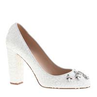 PRE-ORDER COLLECTION ETTA JEWELED SEQUIN PUMPS