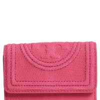 Tory Burch Mini Fleming Snake Embossed Leather Wallet | Nordstrom