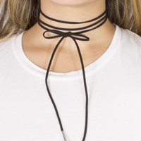 Lina Leatherette Tie Up Choker