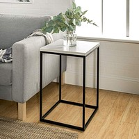 """16"""" Open Box Side Table - White Marble"""