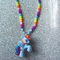 My Little Pony Neon Stars and Rainbow Dash Stretch Necklace from On Secret Wings