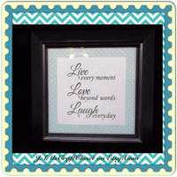 Live Love Laugh- Positive Saying-Framed-Home Decor-Country Decor-Wall Art-Wall Hanging-Gift-Affirmation-Victorian-Cottage Chic-One of a Kind