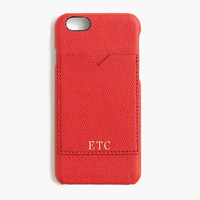 Leather case for iPhone® 6 with pocket