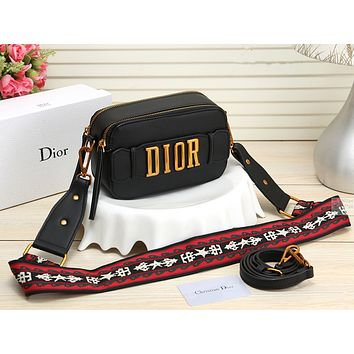 Dior Women Leather Shoulder Bag Crossbody Satchel
