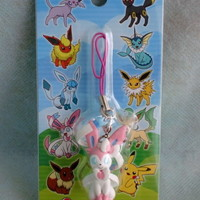JAPAN Pokemon Center Limited EEVEE & Friends Haappy Party Figure Strap SYLVEON