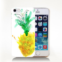 pineapple Hard Transparent Cover Case for iPhone 4 4s 5 5s 5c 6 6s Phone Cases Protect