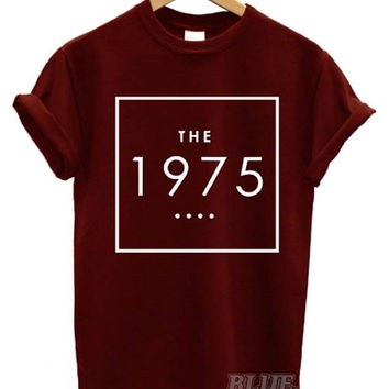 the 1975 t shirt box swag  logo facedown rock band music indie men women unisex matt healy english all colours swag dope