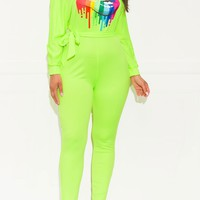 Bold Move Jumpsuit Neon Green