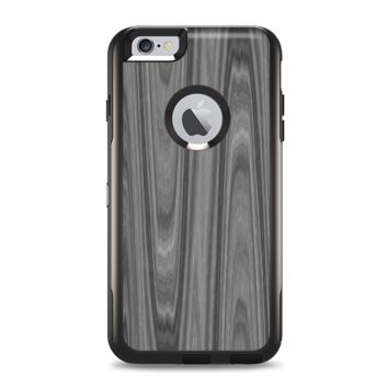 The Grayscale Smooth Woodgrain Apple iPhone 6 Plus Otterbox Commuter Case Skin