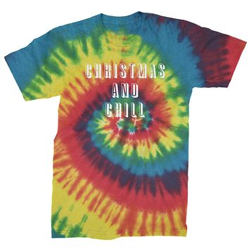 Christmas And Chill  Mens Tie-Dye T-shirt