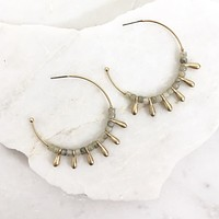 The Little Moments Hoop Earring in Gold