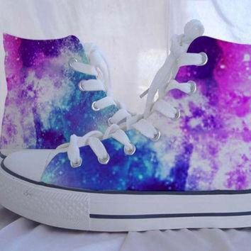 CREYUG7 Custom Converse Galaxy Converse Sneakers Hand-Painted On Converse Shoes Canvas shoes