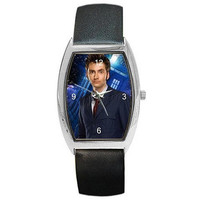Dr Who , David Tennant the 10th Doctor on a Womens or Mans Barrel Watch with ...
