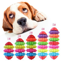 Durable Rubber Pet Dog Puppy Cat Dental Teething Healthy Teeth Gums Pet Chew Toy