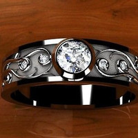 AMAZING 3.12C WHITE ROUND STUD 925 STERLING SILVER ENGAGEMENT AND WEDDING RING
