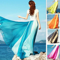 Fashion Women Skirts New 2017 Summer Beach Bohemia Long Beach Skirts Sexy Casual Maxi Skirts Free Shipping Plus Size Fit For All